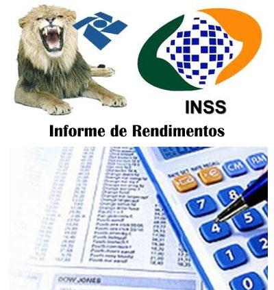 Comprovante de rendimentos INSS IRPF